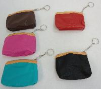 "4.25""x3.5"" Zippered Change Purse [Solid Color Leather-Like]"